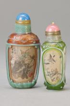 Two Snuff Bottles, China, 20th C.