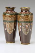 Pair of Cloisonne vases, Japan to 1880/90