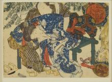Colour Woodcut, Japan, to 1825/30