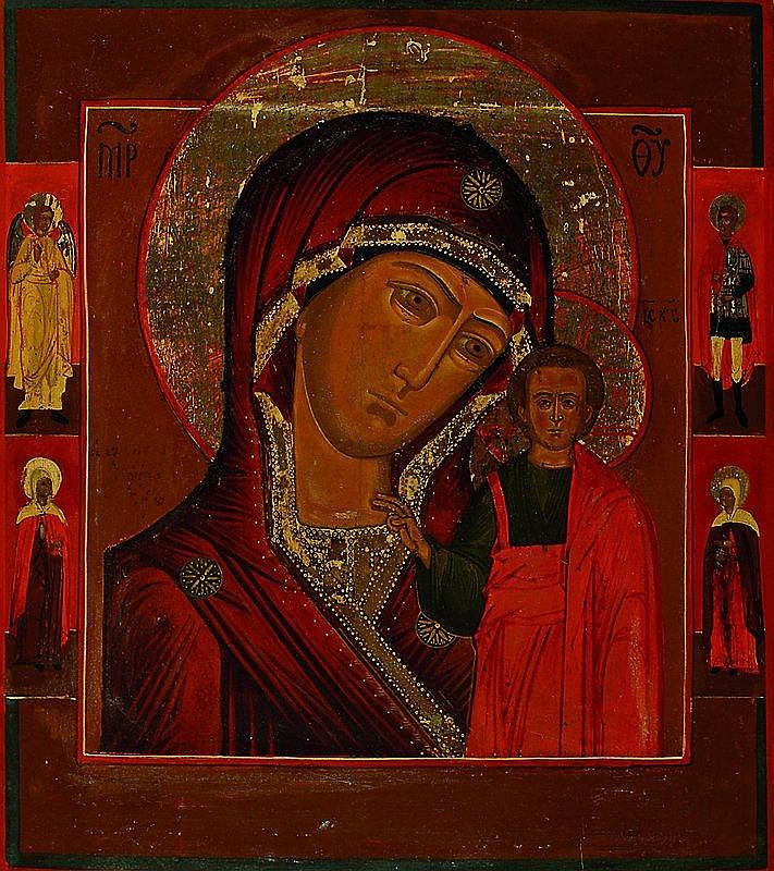 Ikone, Rußland, um 1900-1840, Mutter Gottes von
