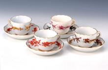6 mocha cups with saucers, Meissen, 2nd half 20th C.