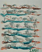 Herbert Zangs, 1924-2003, watercolor on paper,signed,