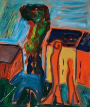 Hartmut Ritzerfeld, born 1950, oil on canvas, landscape,