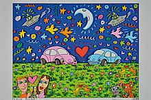 James Rizzi, 1950-2011, Love Bugs, 3D lithograph, signed,
