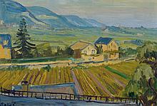 Arnold Balwé, 1898-1983, landscape, oil / artist´s board,