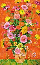 Arnold Balwé, 1898-1983, flower still life, oil on canvas,