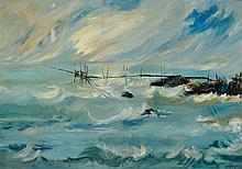 Clélie Lamberty 1930-2013, Belgian artist, oil on canvas