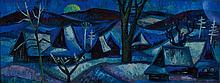 Jaroslava Hyzova, 1915-1992, oil / cardboard,