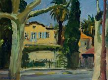 Unknown artist, France, landscape, oil on canvas,