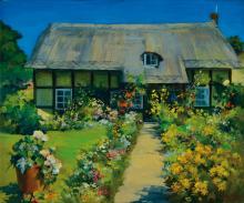 Ewgenija Swolskaja, born 1955, Landscape, oil on canvas,