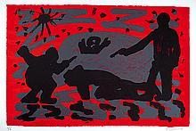 A.R. Penck, born 1939, Dresden, Colour lithograph,