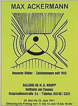 Max Ackermann, 1887-1975, lithograph as exhibition poster,
