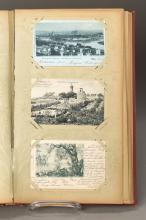 album with postcards, German