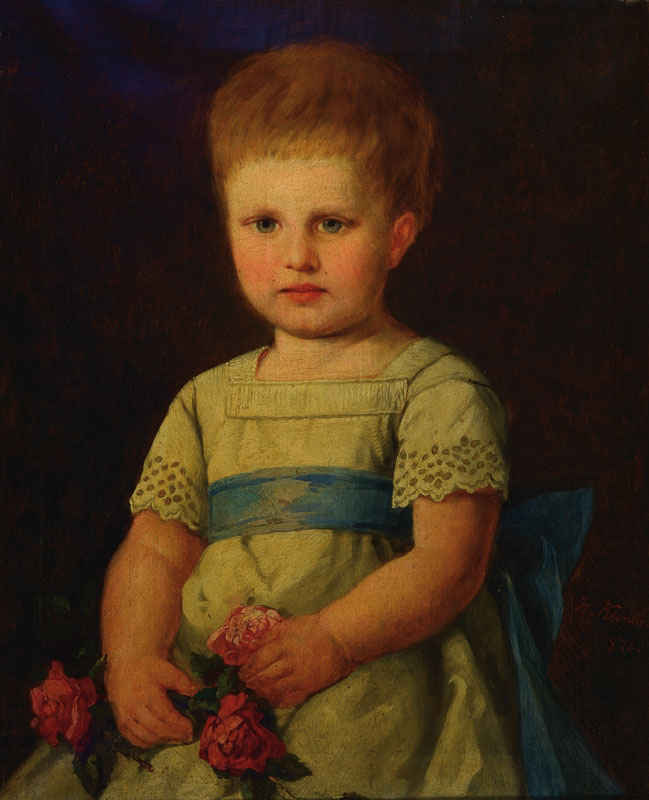 H. Klenke, german, dated 1876, Children's Portrait
