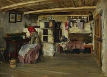 Engelswies, dated 1883, Farmers Kitchen interior
