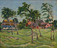 Botho von Gamp, 1894-1977, landscape with village