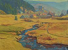 Toni Wolter, 1875-1929 Bonn, landscape with stream