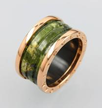 BULGARI ring with ceramic