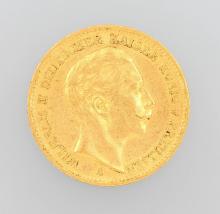 Gold coin, 20 Mark, Germany, 1899, Wilhelm II