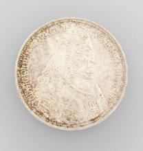 Silver coin, 5 Mark, BRD, Markgraf 1955