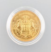 Gold coin, 20 Mark, Germany, 1893, Hamburg