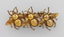 Brooch 'bees', Joseff of Hollywood, ca.1950/60s