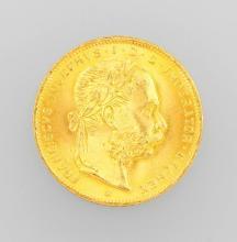 Gold coin, 8 Florin, Austria-Hungary 1892
