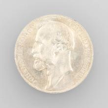 Silver coin, 5 kroner, Liechtenstein, 1900, Johann II