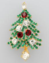 Lisner Brooch 'christmas tree'