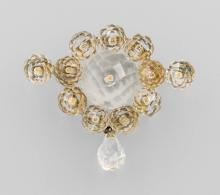 Brooch with rock crystal, Idar Oberstein ca. 1870/80