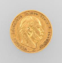 Gold coin, 10 Mark, Germany, 1880