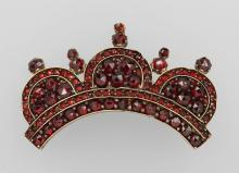 Brooch with garnets, Bohemia ca. 1870