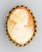 Brooch/pendant with cameo, ca. 1920/30s