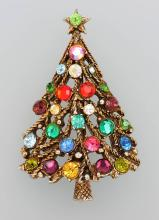 Hollycraft brooch 'christmas tree'