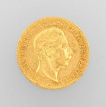 Gold coin, 10 Mark, Germany, 1896, Wilhelm II.