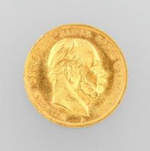 Gold coin, 10 Mark, Germany, 1872, Wilhelm