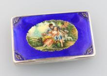Silver case with enamel, Vienna 1900/15