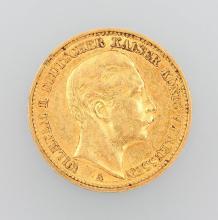 Gold coin, 20 Mark, Germany, 1892, Wilhelm II.