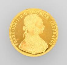 Gold coin, 4 ducats, Austria - Hungary, 1915