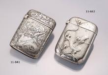 Art Nouveau Silver matchstick case, France ca. 1900,