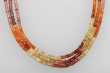 3-row necklace with sapphires
