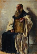 M. Wachsen, Portrait of a seated rabbi,