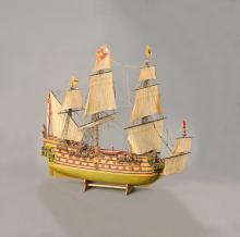 Model ship, german, 1950s