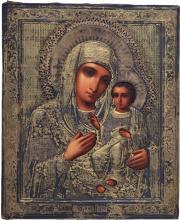 Icon, Russia, Madonna and Child