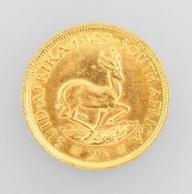 Gold coin 2 Rand South Africa, 1969