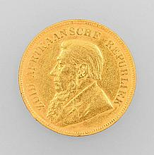 Gold coin, 1 Pond, South Africa 1897