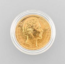 Gold coin, 20 Mark, Germany, 1874
