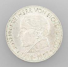 Silver coin, 5 Mark, Germany, 1957