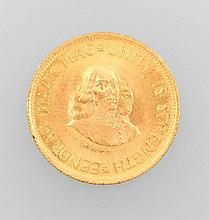 Gold coin, 2 Rands, South Africa, 1972