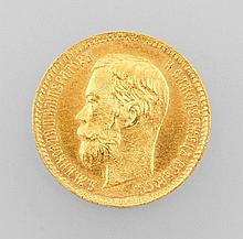 Gold coin, 5 ruble, Russia, 1901